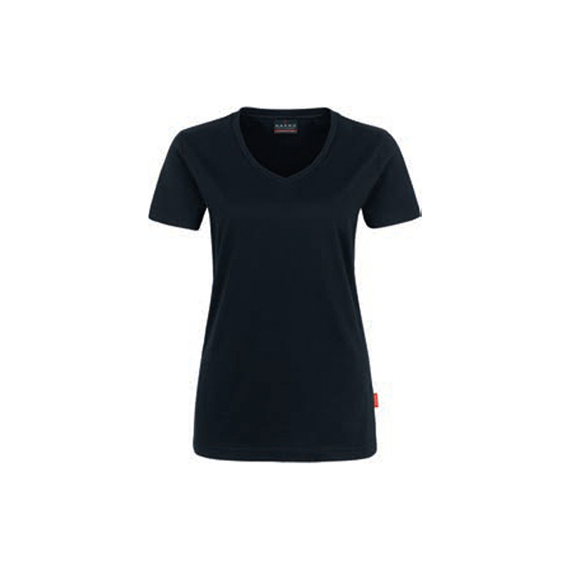 Woman-V-Shirt-Performance-Schwarz