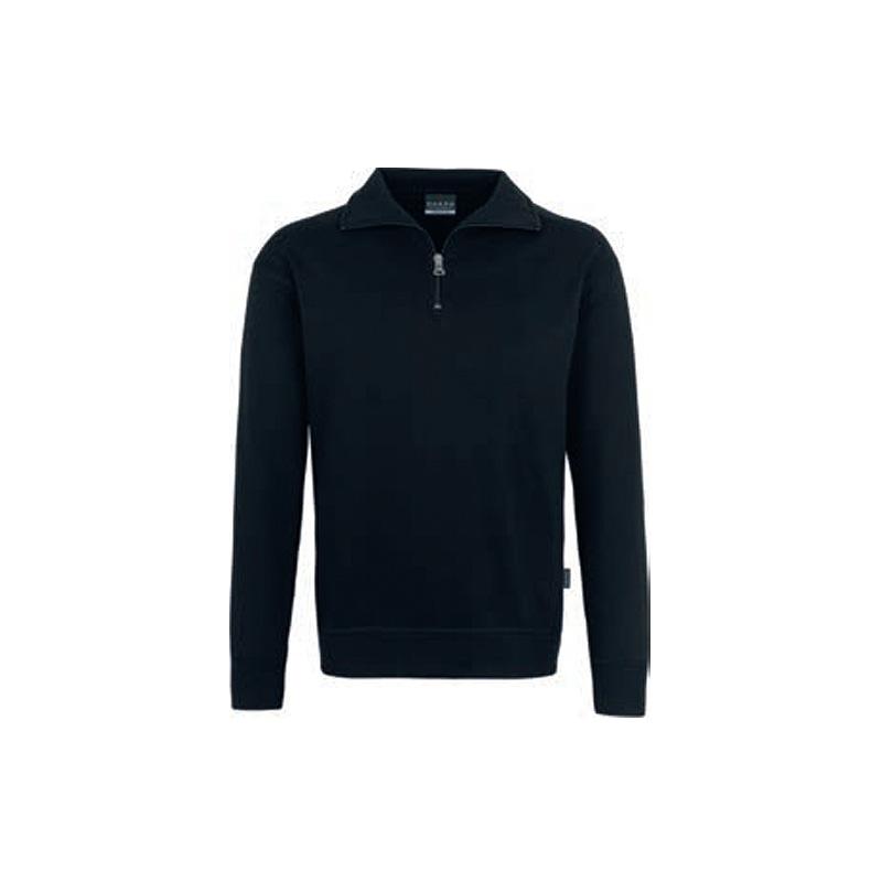 Zip-Sweatshirt-Premium-Schwarz