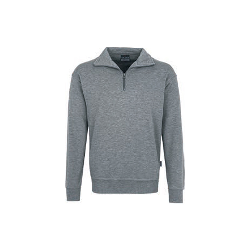 Zip-Sweatshirt-Premium-Grau/meliert