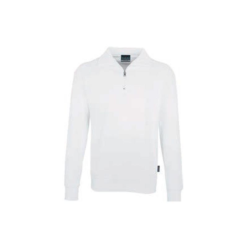 Zip-Sweatshirt-Premium-Weiss